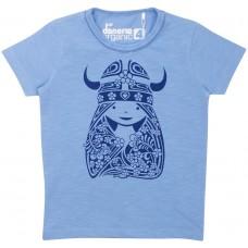 danefae ORGANIC Beetroot Tee Cristal Blue FREJANOUVEAU Mädchen T-Shirt