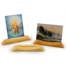 Decor-Spielzeug Holz Kartenständer / Fotoständer, hoch + quer A6