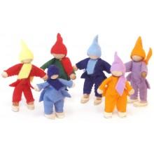 Decor-Spielzeug Filzbiegepüppchen Zipfelmützenträger Filzzwerge