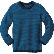 disana Basic-Pullover Kinder Woll Langarmshirt Gr. 122/128