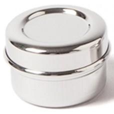 ECO Brotbox - Chutney Box - kleiner runder Edelstahlbehälter mit Deckel