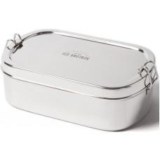 ECO Brotbox - Goodies Box - einlagiger Edelstahlbehälter, extra groß
