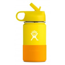 Hydro Flask 12 oz Kids Wide Mouth Edelstahl Thermo Trinkflasche 354 ml Straw Lid