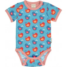 maxomorra Body SS BRIGHT BIRDS Kleinkinder Kurzarmbody GOTS 62 - 92