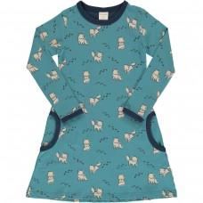 maxomorra Dress LS ARCTIC FOX Mädchen Langarmkleid GOTS Gr. 98/104