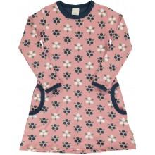maxomorra Dress LS BLUEBERRY BLOSSOM Mädchen Langarmkleid GOTS 98 - 140