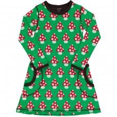 maxomorra Dress LS CLASSIC MUSHROOM Mädchen Langarmkleid GOTS Gr. 86 - 140