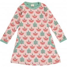 maxomorra Dress LS RUBY ROWANBERRY Mädchen Langarmkleid GOTS 122/128