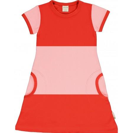 maxomorra Dress SS POPPY / BLOSSOM Mädchen Kurzarmkleid GOTS 98-140