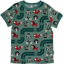 maxomorra Top SS BIG CITY Kinder T-Shirt GOTS Gr. 86 - 140