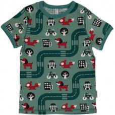 maxomorra Top SS BIG CITY Kinder T-Shirt GOTS Gr. 86 - 128