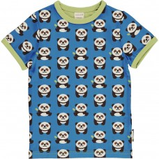 maxomorra Top SS PLAYFUL PANDA Kinder T-Shirt GOTS Gr. 134/140