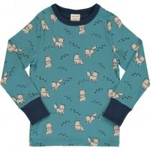 maxomorra Top LS ARCTIC FOX Kinder Langarmshirt GOTS Gr. 86 - 140