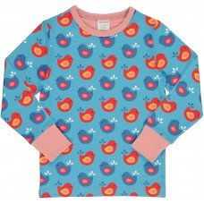 maxomorra Top LS BRIGHT BIRDS Kinder Langarmshirt GOTS Gr. 98 - 140