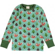 maxomorra Top LS BUSY SQUIRREL Kinder Langarmshirt GOTS Gr. 86 - 140