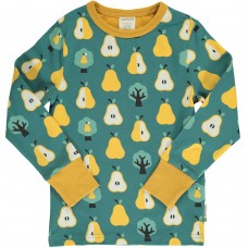 maxomorra Top LS GOLDEN PEAR Kinder Langarmshirt GOTS Gr. 86/92