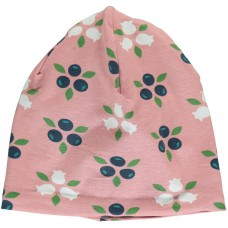 maxomorra Hat Regular BLUEBERRY BLOSSOM Kindermütze Beanie GOTS 52 - 58