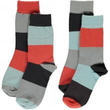 maxomorra Socks Block MULTI FUN Kindersocken 2er-Pack Gr. 25 - 30
