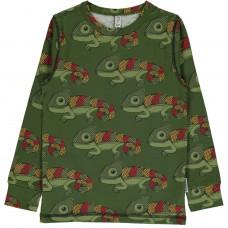 maxomorra Top LS Chameleon Kinder Langarmshirt GOTS