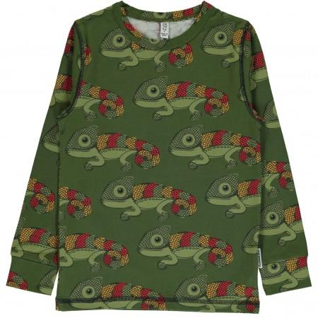 maxomorra Top LS Chameleon Kinder Langarmshirt GOTS Gr. 98 - 128
