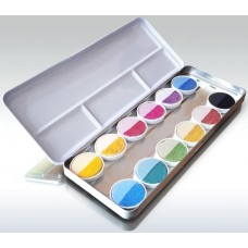 ökoNORM Farbkasten nawaro, Blechetui mit Farbtabletten Ø30mm - 12 Farben