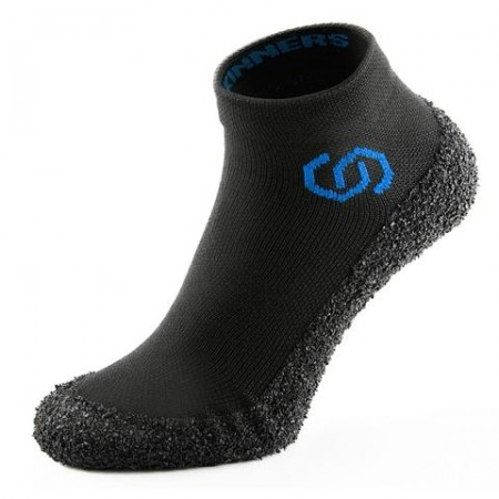 SKINNERS Sockenschuhe schwarz mit farbigem Logo (36-49)