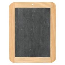 Schiefertafel mit Holzrahmen und Nostalgie-Schiefer-Griffel