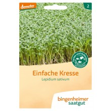 bingenheimer saatgut Einfache Kresse (Lepidium Sativum) Samen G250N