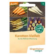 bingenheimer saatgut Karotten-Vielfalt - Bunte Möhren Mischung Samen G761N