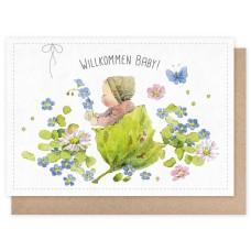 Grätz Verlag - Klappkarte Blütenbaby - Illustration: Daniela Drescher