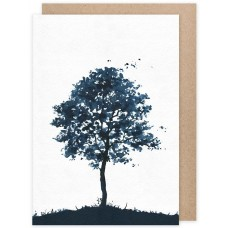 Grätz Verlag - Trauerkarte Baum - Illustration: Daniela Drescher
