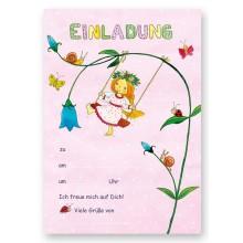 Grätz Verlag - Einladungsset Elfen-Schaukel - Illustration: Outi Kaden