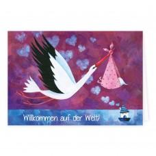 Grätz Verlag - Klappkarte zur Geburt - Illustration: Aurélie Blanz