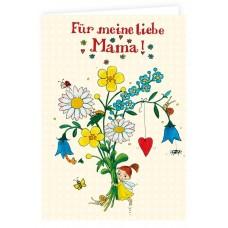 """Grätz Verlag - Klappkarte """"Für meine liebe Mama"""" - Illustration: Outi Kaden"""