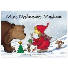 Grätz Verlag - Mini-Malbuch Wichtel-Weihnachten DIN-A7 - Illustration: Outi Kaden