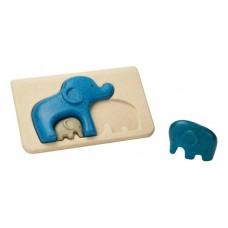 PlanToys Elephant Puzzle Kleinkindpuzzle mit Elefanten