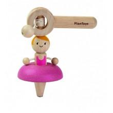 PlanToys Ballet / Spaceship Top Kinder Schnurkreisel / Abziehkreisel