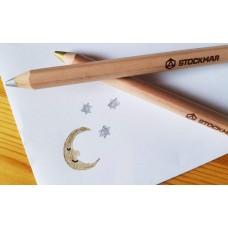 STOCKMAR Buntstifte dreieckig - Einzelstifte - gold. silber, kaminrot