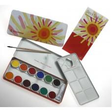 STOCKMAR Deckfarbkasten - 12 Farben + Deckweiß + Pinsel + Mischpalette