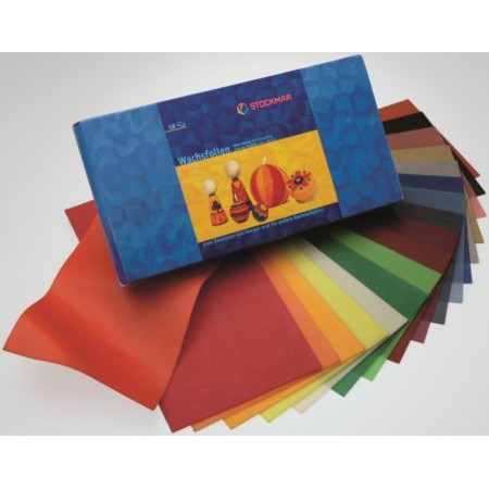 STOCKMAR Wachsfolien - 20 x 10 cm - 18 Farben