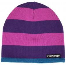 VILLERVALLA knitted hat STRIPES Kinder Wintermütze Gr. 54/56