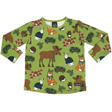 VILLERVALLA t-shirt NORDIC ANIMALS Kinder Langarmshirt Gr. 92