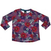 VILLERVALLA t-shirt FLOWER Mädchen Langarmshirt Gr. 110 - 134