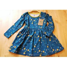 walkiddy Floral Langarm-Kleid aus Bio-Baumwolle Gr. 92