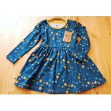 walkiddy Floral Langarm-Kleid aus Bio-Baumwolle Gr. 86 & 98