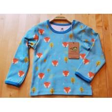 walkiddy Fuchs Langarm-Shirt aus Bio-Baumwolle Gr. 86